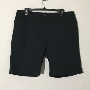 Talbots Bermuda Shorts Cotton Blend Black Sz 20W